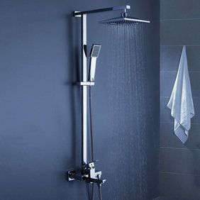 Contemporary 8 inch Shower Head + Hand Shower Tub Shower Tap - SC006