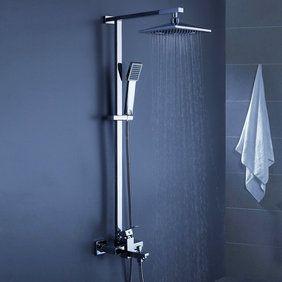 Contemporain de douche 8 pouces + douche à main Robinet bain-douche SC006