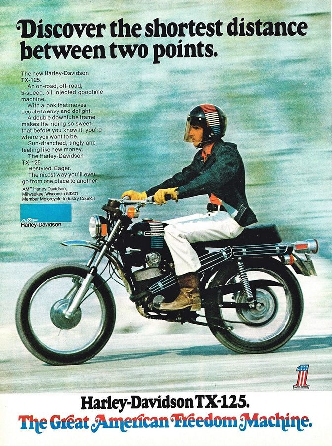 1973 Amf Harley Tx125 Goruntuler Ile