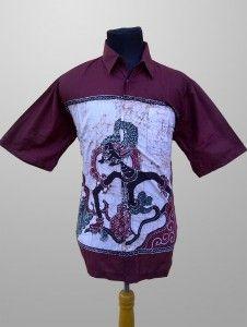 Baju Batik Kombinasi Tulis Pria Dewasa Motif Wayang Kode KT 31 Kirim Pesan ke 082134923704