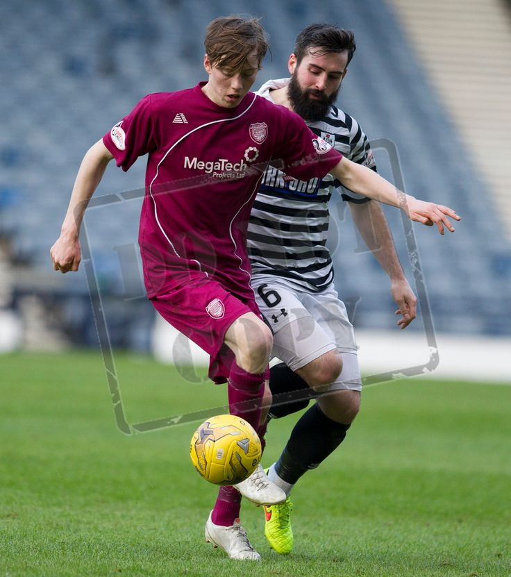 Arbroath's Kane Hester on the ball during the SPFL League Two game between Queen's Park and Arbroath.