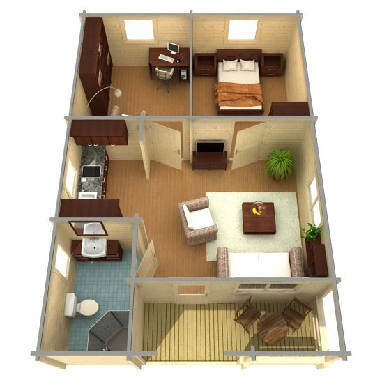 Cabin life affordable accomodation 2015 for Self sufficient cabin kits