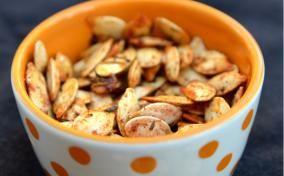 Pumpkin seeds trick or treat salty or sweet