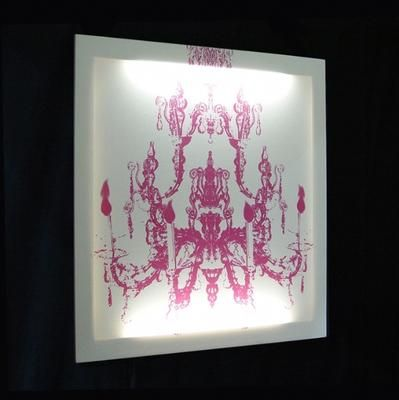 Illuminate your room in an innovative way with this Glo Canvas Pink ON White by Design My World, £235
