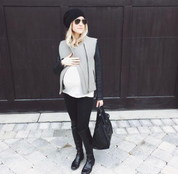 kristin cavallari, pregnant, outfit, zwangerschaps look, fashion mom