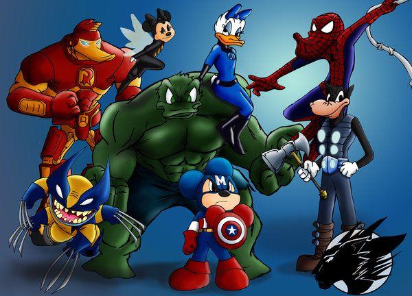 Disney Avengers Mash-up