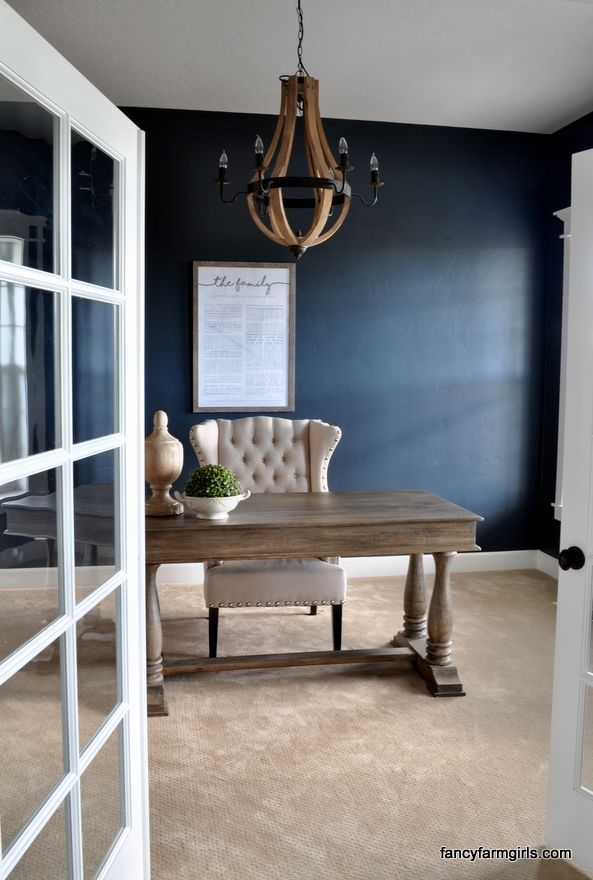 Using Navy Blue In Home Decor Blue Home Offices Blue Home Decor