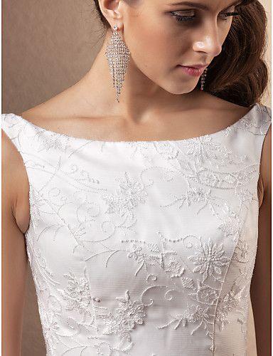 Lanting Bride® Corte en A Tallas pequeñas / Tallas Grandes Vestido de Boda - Clásico y Atemporal / Glamouroso Inspiración Vintage Capilla 492760 2017 – €156.79
