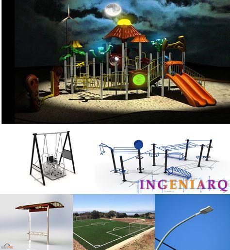 Equipamiento de áreas publicas, comunes, jardines, canchas deportivas, gimnasios al aire libre, Control de acceso, CCTV!!