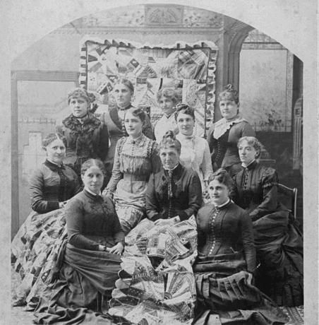 Vintage Photo of Quiters With Their Treasures