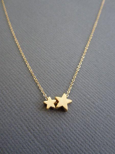 Star Halskette 2 Sterne Mutter Kind Kette Halskette von Muse411