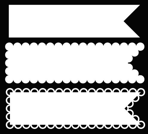 Many free cut files from Bird's Cards. Here: pennant #2. Silhouette cut file.