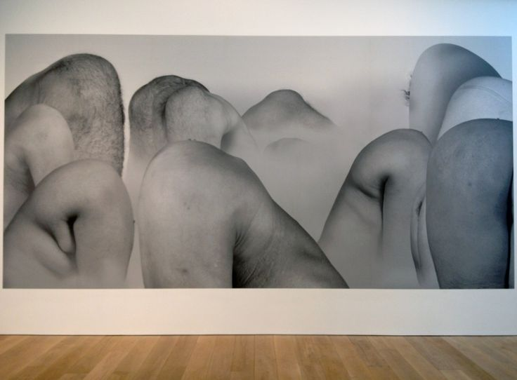 """Liu Wei """"It Looks Like a Landscape Painting"""" 2004 at Whitworth Manchester. It is what it says."""