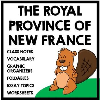 The Royal Province of New France and the start of the Fur Trade: Complete unit with informational text, foldables, and activities!
