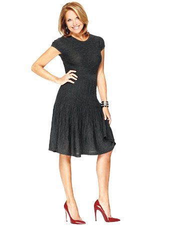 Katie Couric - Charcoal Little Gray Dress from LOFT by Ann Taylor