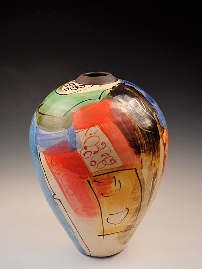 Ceramics by Richard Wilson at Studiopottery.co.uk - 2015. Oriental pot