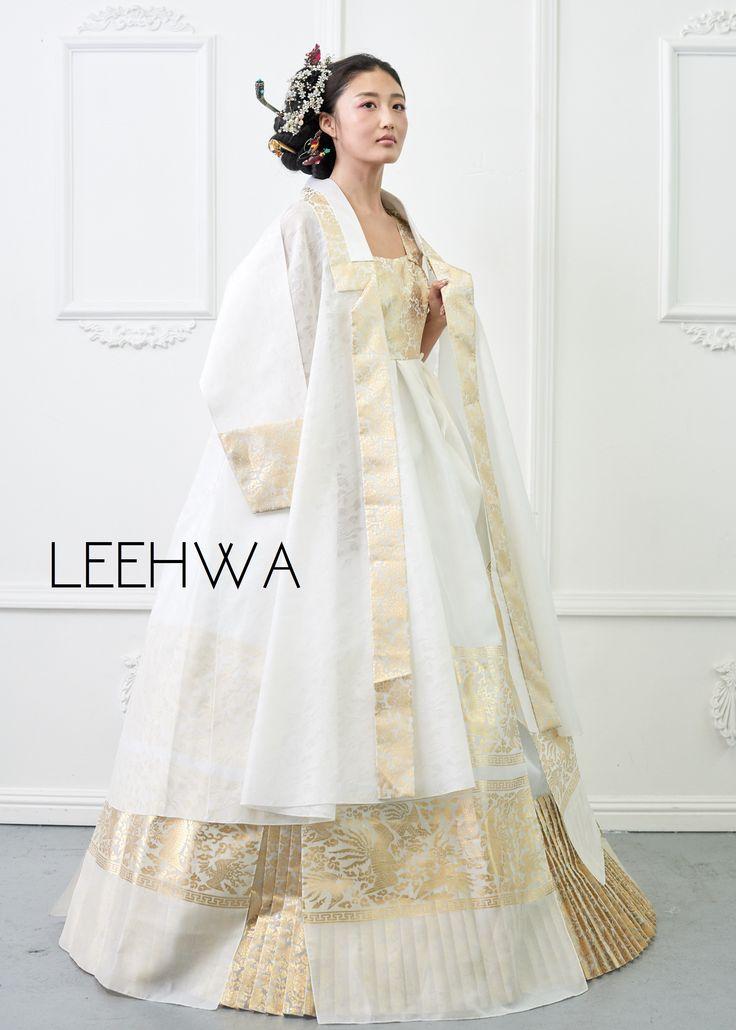 Modern bridal hanbok dress for the wedding day! Korean