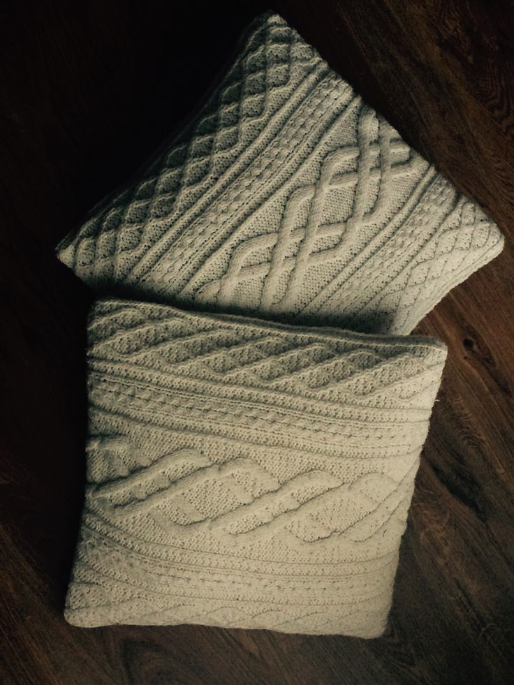 old sweater pillows