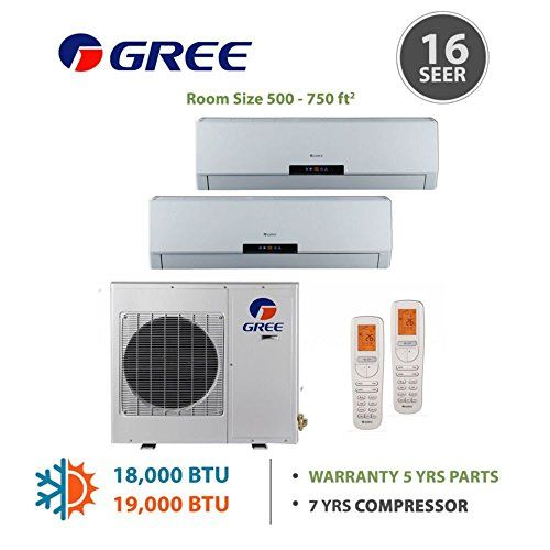 Cheap +Multi Zone 18,000 BTU 1 5 Ton Ductless Mini Split Air