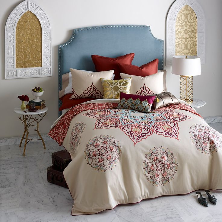 blissliving home chanda collection red bedding