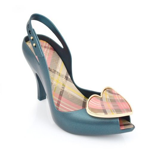 Vivienne Westwood Anglomania Melissa Lady Dragon with Tartan Heart Teal