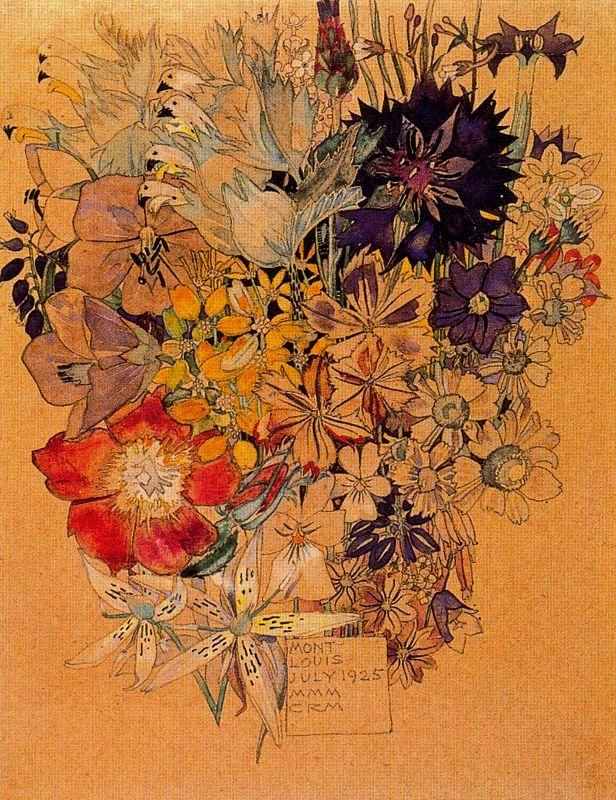 Работа «Цветочный мотив 24», художник Чарльз Ренни Макинтош – сотни тысяч самых популярных работ на портале, посвященному искусству, «Артхив».