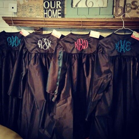 Monogrammed Graduation Gowns, great way to add some personalization to your already special day!