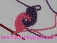 Вязание крючком от LenchaNS: Двухцветная спираль крючком - мастер-класс