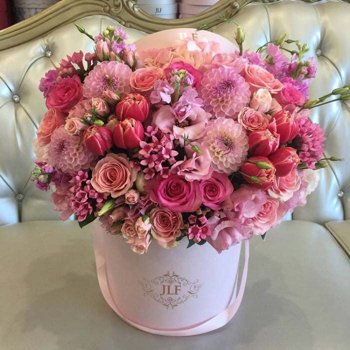 Pink Full The Most Popular Arrangement In Los Angeles Viragok Csokrok Es Rozsa