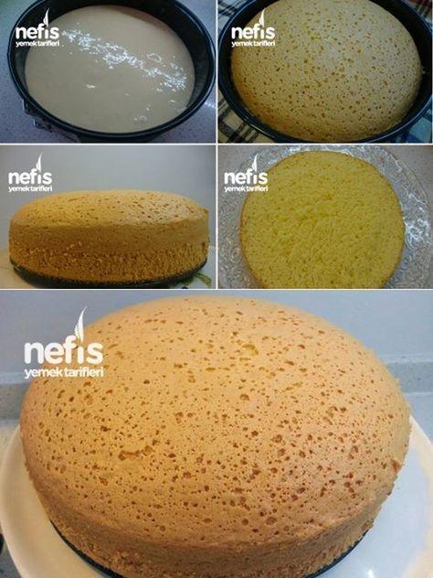 Sünger Pandispanya Keki (Pasta Keki Tarifi)