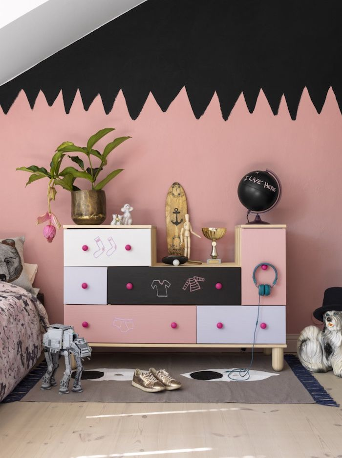 Great idea for walls and dresser