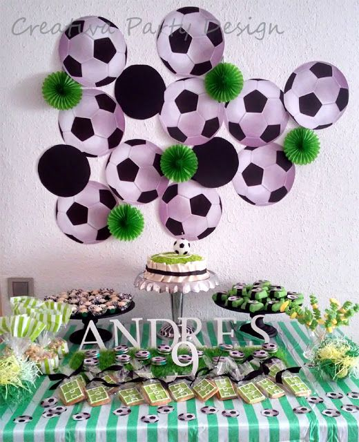 Soccer Party Fiesta Futbol CreativaPartyDesign                                                                                                                                                                                 Más
