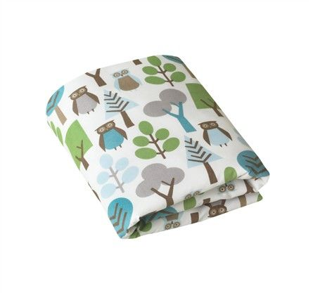 Owls Sky Fitted Crib Sheet $40