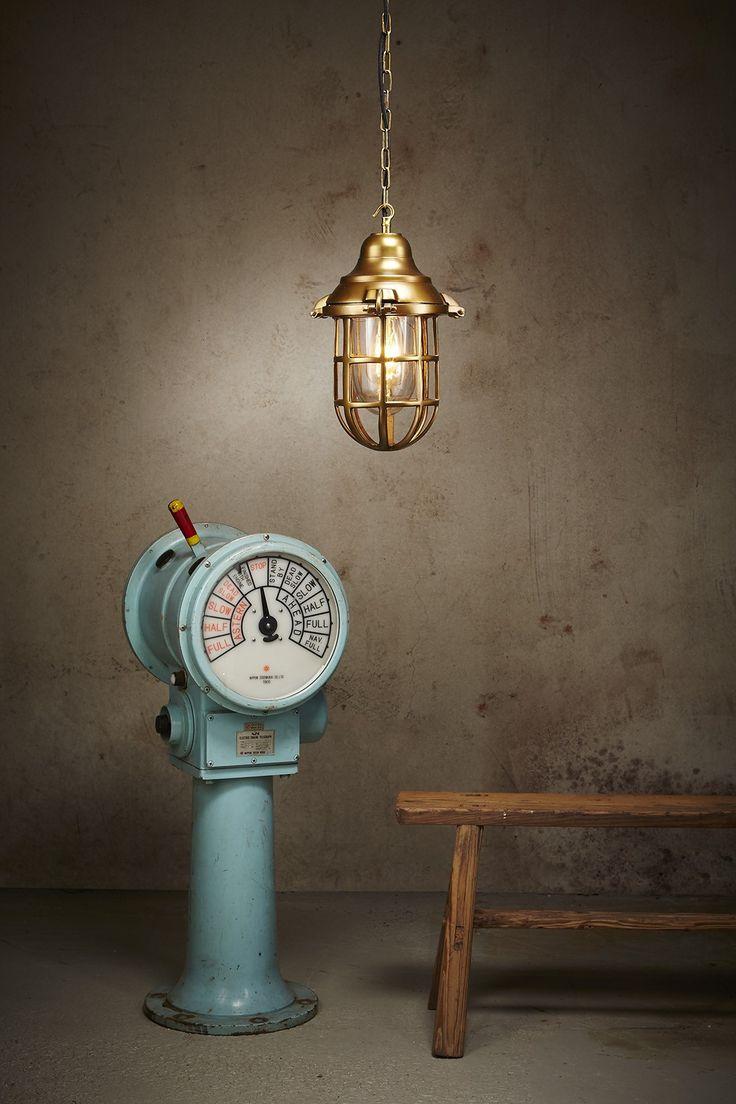 nautical cage pendant lamp