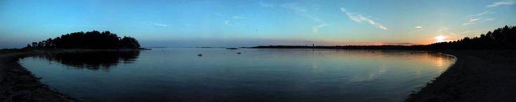 Panorama of the ocean.
