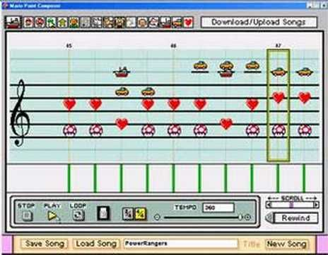 Mighty Morphing Power Rangers Theme Song on Mario Paint. Insanely well done. I have to listen to it at least once a month.