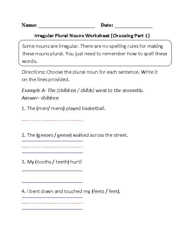 Die besten 25 Irregular plural nouns worksheet Ideen auf – Plural Nouns Worksheets
