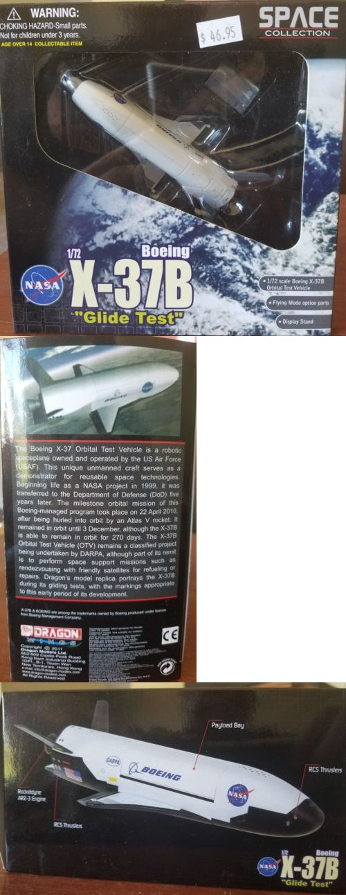 Vintage Manufacture 2650: Dragon Models #50386 Boeing X-37B Glide Test 1 72 Scale Die Cast. -> BUY IT NOW ONLY: $34.99 on eBay!