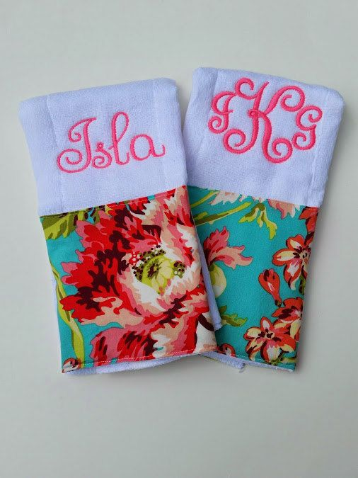 Monogrammed Burp Cloth Set// Baby Burp Cloth Set in Amy Butler Love Bliss// Baby Girl Burp Cloths // Pink Burp Cloths // Embroidered by jennypennydesigns on Etsy https://www.etsy.com/listing/227001695/monogrammed-burp-cloth-set-baby-burp