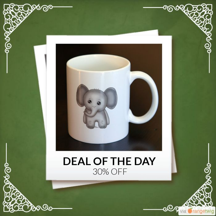 Today Only! 30% OFF this item.  Follow us on Pinterest to be the first to see our exciting Daily Deals. Today's Product: Sale -  Baby Elephant Coffee Mug Buy now: https://small.bz/AAgsaGA #etsy #etsyseller #etsyshop #etsylove #etsyfinds #etsygifts #musthave #loveit #instacool #shop #shopping #onlineshopping #instashop #instagood #instafollow #photooftheday #picoftheday #love #OTstores #smallbiz #sale #dailydeal #dealoftheday #todayonly #instadaily #instasale