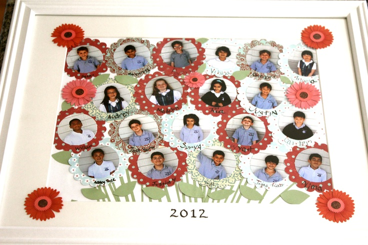 Here is a photo collage we did for our Principal for Teacher Appreciation Day. The kids all signed their flowers.