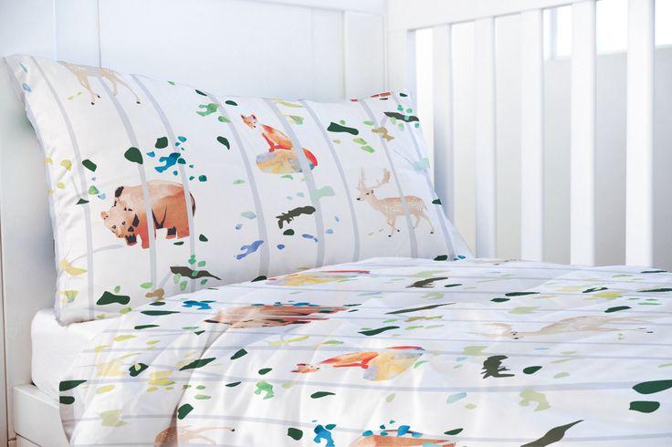 Fox Deer Bear Duvet - Duvet Set for Kids - Twin Duvet Cover - XL Duvet Cover - Boys Duvet Cover - Kids Bedding - Woodlands Bedding by WakeUpDuvets on Etsy https://www.etsy.com/listing/501847774/fox-deer-bear-duvet-duvet-set-for-kids