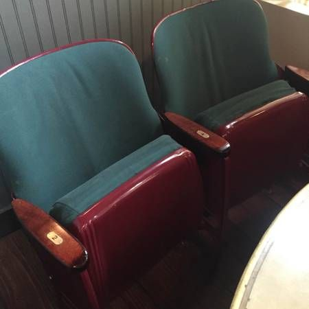 Theater Style Chairs: Set of 4 - $345 (25 Bogart Street, Brooklyn NY)