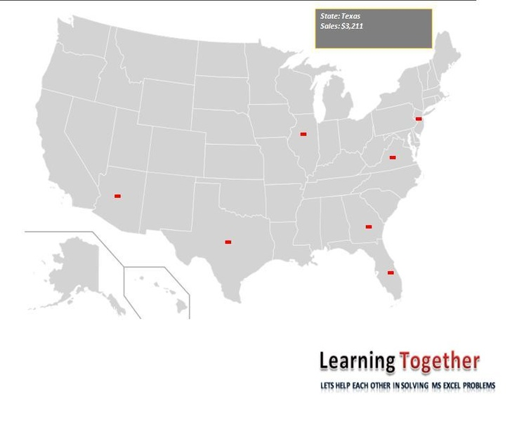 Try Interactive Map Of Usa On Ms Excel Download Working File Https