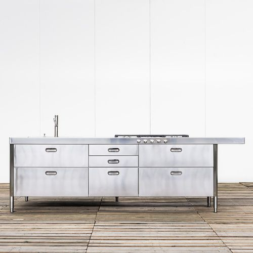 Contemporary kitchen island KITCHEN ISLAND 250-280 WITH DOUBLE SNACK UNIT…