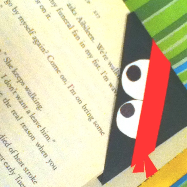 Reading ninja bookmark - great library project for book buddies