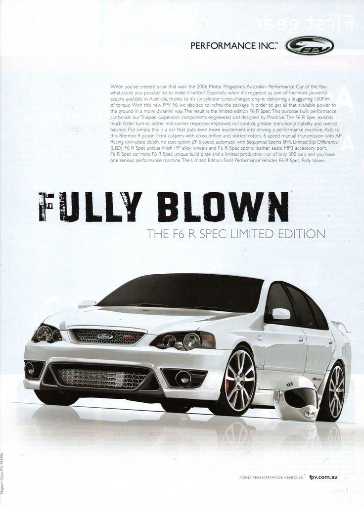https://flic.kr/p/VXNrA3 | 2007 BF Ford Falcon FPV F6 R Spec Limit Edition Aussie Original Magazine Advertisement