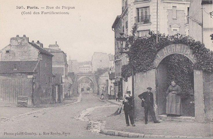 la rue de picpus du c t des fortifications vers 1900 paris 12 me paris 12e picpus le. Black Bedroom Furniture Sets. Home Design Ideas