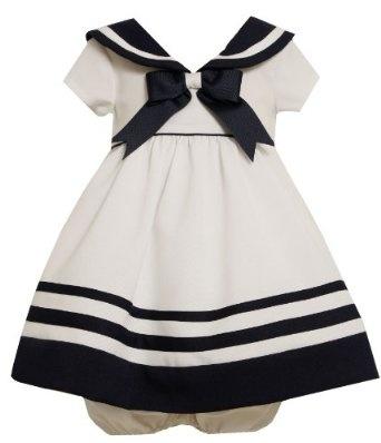 Amazon.com: Bonnie Baby-Girls Infant Nautical Dress With Navy Trim: Clothing