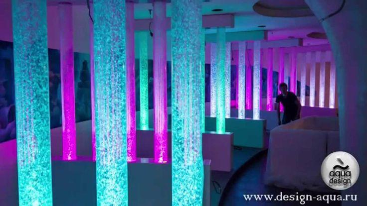 Самая красивая Пузырьковая Колоннада | Пузырьковые колонны в ресторане